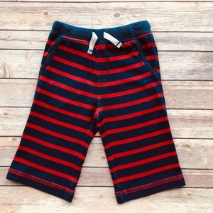 Mini Boden: Red/Navy Blue Striped Baggies shorts